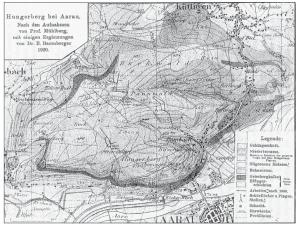 Der Hungerberg bei Aarau. Nach den Aufnahmen von Prof. Mühlberg, mit einigen Ergänzungen von Dr. E. Baumberger, 1920. in Minaria-Helvetica-Nr.-23a-2003