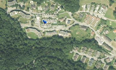 Luftbild 2020 mit stark reduzierten Grünflächen / Querungskorridoren